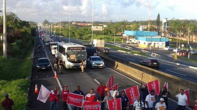 CUT protesta contra o impeachment na Bahia