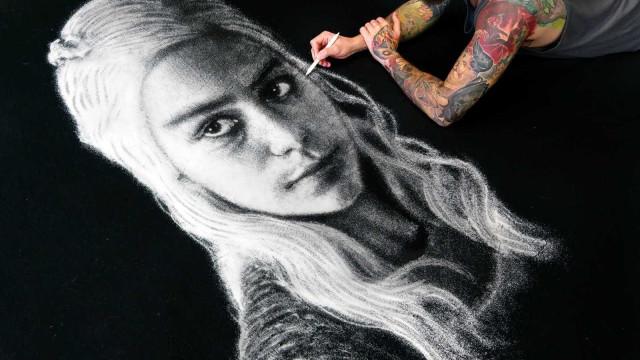 Veja Daenerys Targaryen em retrato feito apenas com Sal de cozinha!