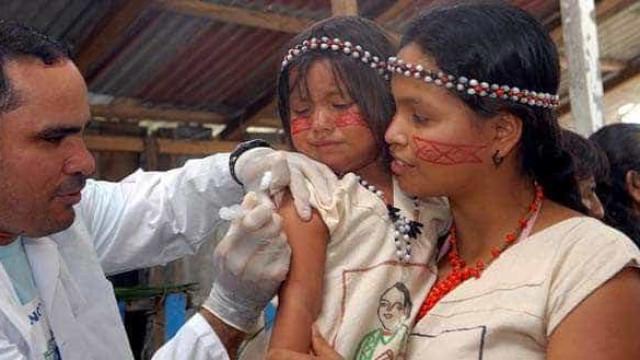 Ministério da Saúde quer vacinar 120 mil indígenas