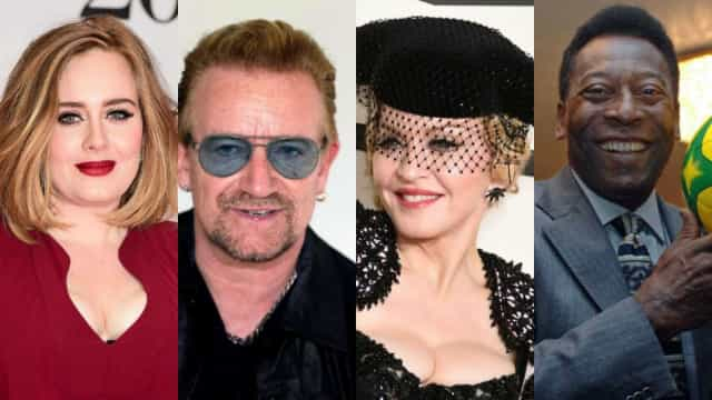 Os famosos que são conhecidos por um único nome