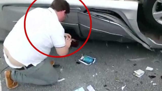 Homem flagrado com bolsa de vítima em acidente depõe a delegado