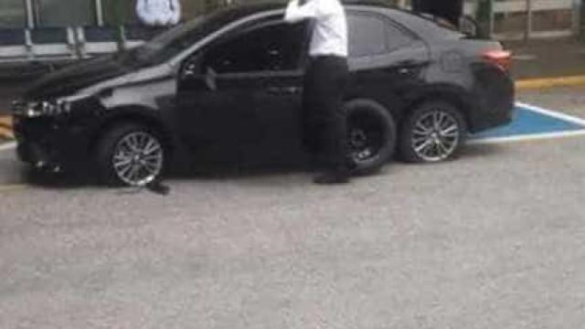Motorista do Uber tem pneus esvaziados no aeroporto do Rio