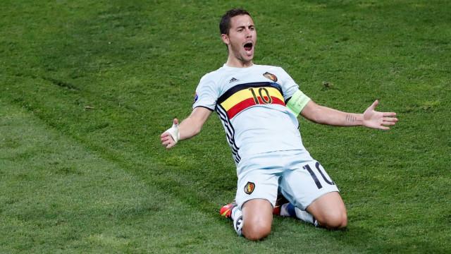 Hazard ficar fora de treino, mas não preocupa técnico da Bélgica