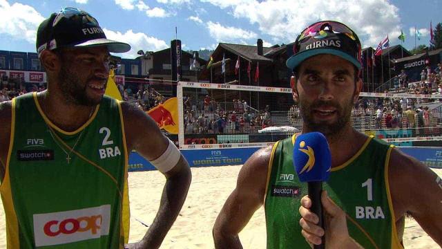 Pedro e Evandro vencem e Brasil vence 3ª final contra os EUA em 2 dias