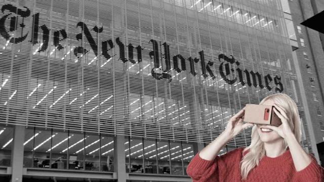 New York Times marcará diferença com realidade virtual