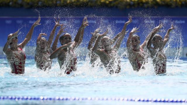 Brasil fica em 6º lugar na rotina  técnica do nado sincronizado
