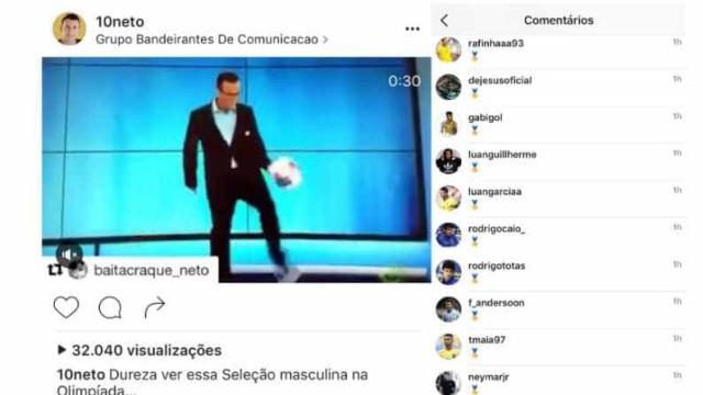 Campeões da seleção tiram sarro de Neto no Instagram do ex-jogador