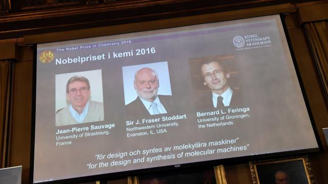 Nobel de Química premia trio  de 'máquinas moleculares'