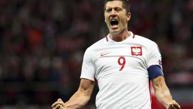 Lewandowski faz três e garante 1ª vitória da Polônia nas Eliminatórias
