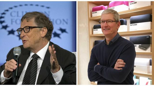 Bill Gates e Tim Cook foram cogitados  para vice de Hillary