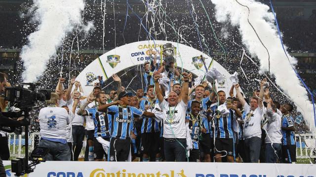 Grêmio assume a liderança de ranking após  título da Copa do Brasil