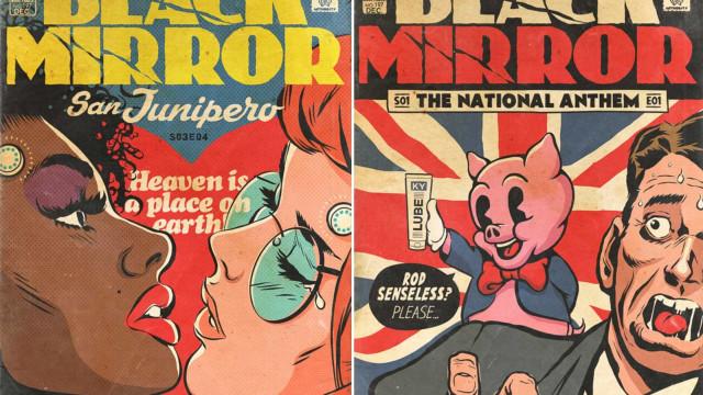 Artista recria série 'Black Mirror' em arte de quadrinhos; amplie
