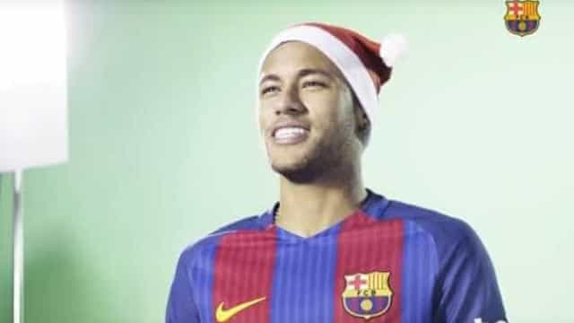 Neymar e estrelas protagonizam vídeo de Natal do Barça; assista