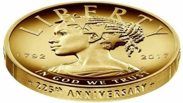 Casa da Moeda dos EUA lança moeda de ouro com imagem de mulher negra