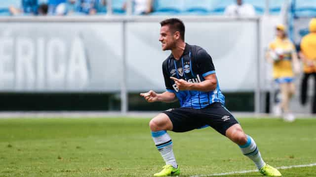 Grêmio vence 1º jogo sem Douglas com gol acrobático de Ramiro
