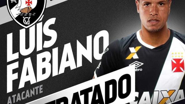 Vasco oficializa contratação de Luís Fabiano
