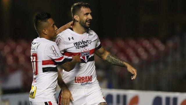 Lucas Pratto marca duas vezes, e São Paulo vence de virada