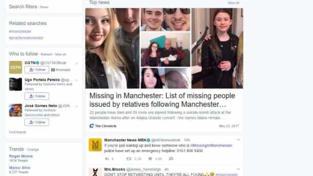 Nas redes sociais, pais buscam filhos sumidos após ataque