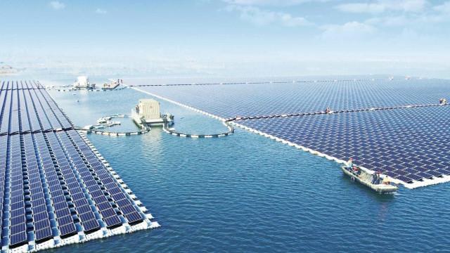 China estreou a maior central de energia solar marítima do mundo