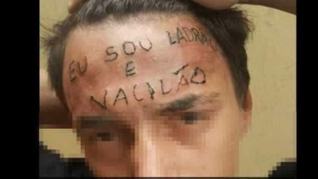 Mãe de adolescente tatuado na testa  repudia decisão do MP sobre caso