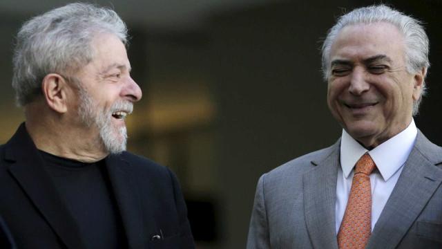 Lula diz não se arrepender de aliança com PMDB
