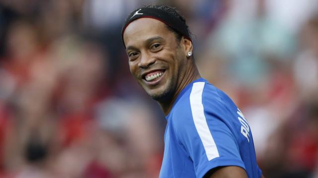 Ronaldinho e Rivaldo jogam hoje pelo Barça  contra o Man. United