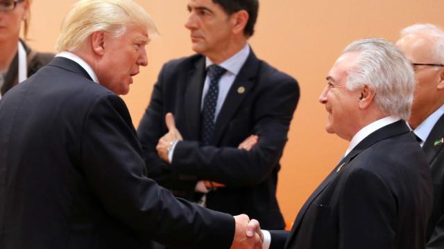 Temer diz que Trump elogiou economia do Brasil