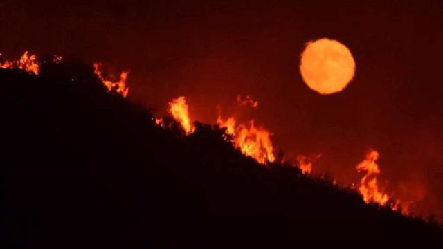 Incêncio evacua dezenas de casas na Califórnia