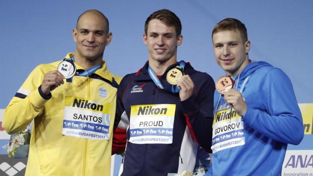 Nicholas Santos, leva prata nos 50 m borboleta no Mundial de Budapeste