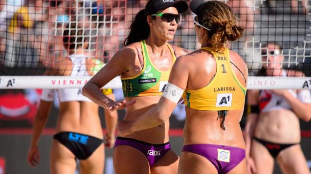 Larissa e Talita vencem neste  domingo no Mundial de Vôlei de Praia