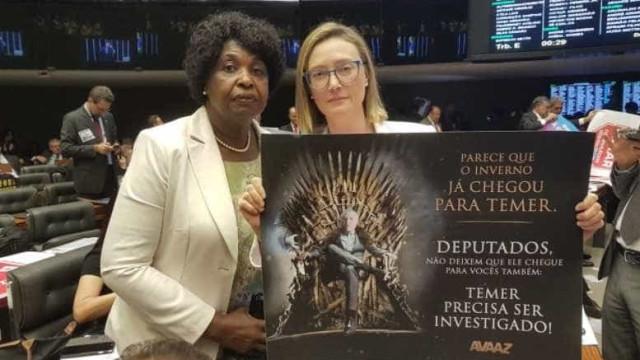 Deputada usa 'Game of Thrones' para apoiar processo contra Temer