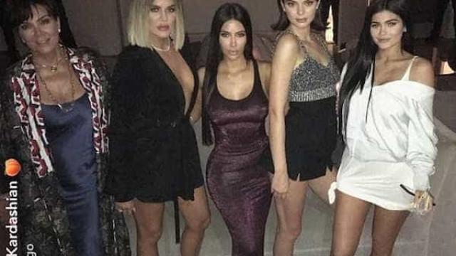 Khloé e Kim abusam do decote em festa de 20 anos de Kylie