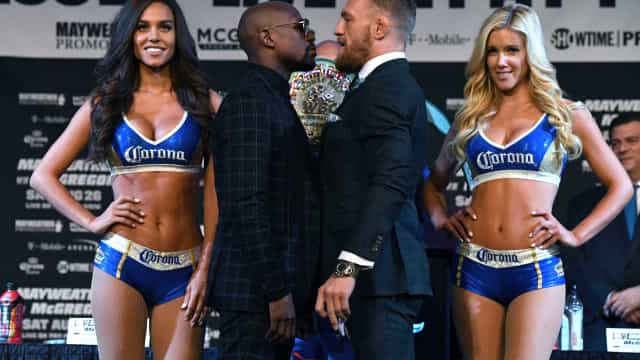 Luta entre Mayweather e McGregor começou com brincadeira