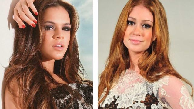 Marina Ruy Barbosa se aproxima de Marquezine e a convida para casamento
