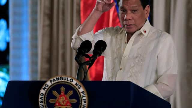 Duterte: 'Ninguém precisa de guerra no mar do Sul da China'