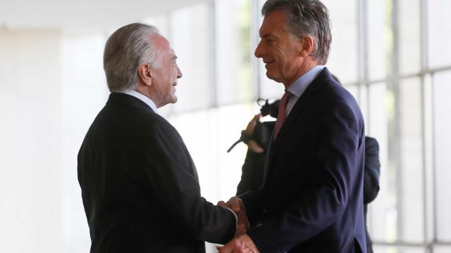 Temer cita Argentina como exemplo por aprovar reforma da Previdência