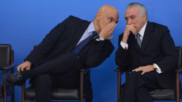 Temer se aconselha com Moraes sobre nome para Segurança Pública