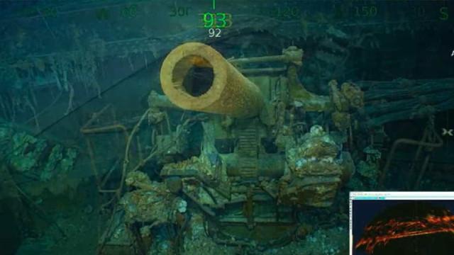 Encontrado porta-aviões naufragado durante a 2ª Guerra