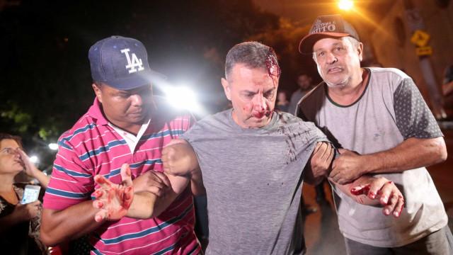Estado de saúde de homem ferido em manifestação é estável