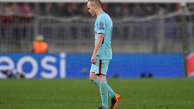 Iniesta lamenta derrota e diz que pode jogado sua última Champions