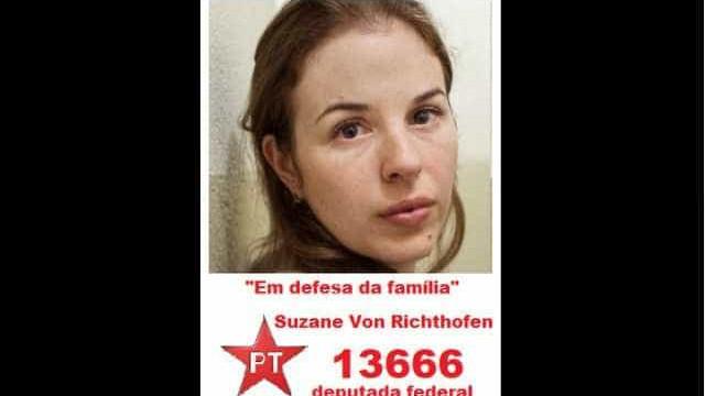 Boato: Suzane von Richthofen não será candidata pelo PT