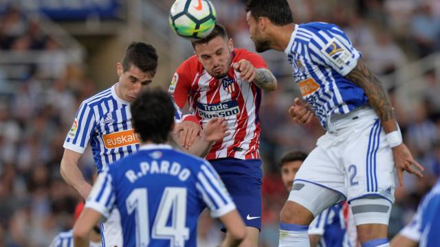 Real Sociedad vence o Atlético e deixa o Barça a três pontos do título