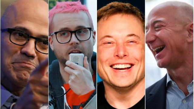 Quatro magnatas da tecnologia estão na lista dos mais influentes