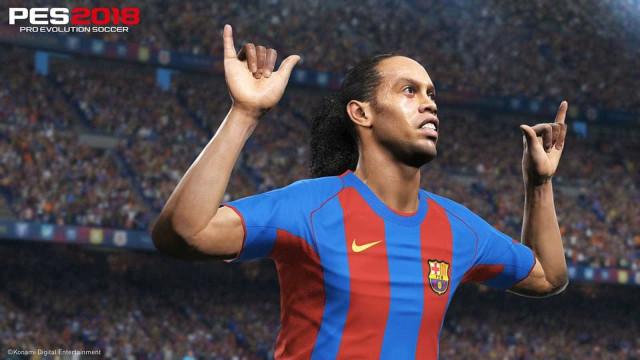 Ronaldinho chega ao PES 2018; confira o trailer do game com o 'Bruxo'