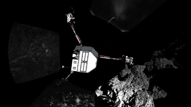 GIF impressionante revela a superfície de um cometa em movimento