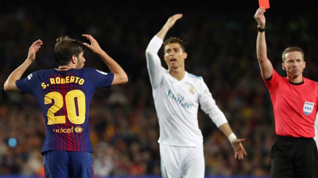 Jogador do Barça que deu soco no brasileiro Marcelo pega gancho