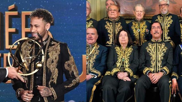 Roupa de Neymar é comparada a traje da Academia Brasileira de Letras