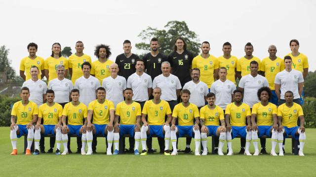 CBF divulga foto oficial da seleção brasileira para a Copa do Mundo