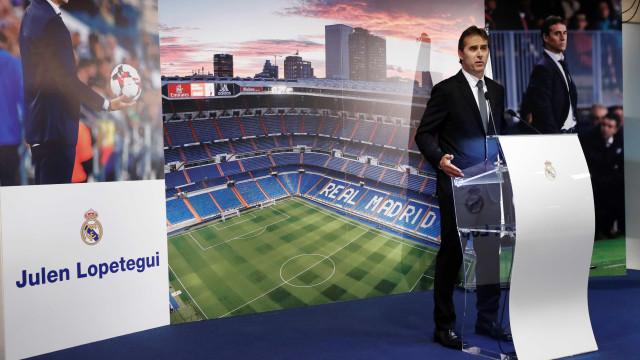 Ex-técnico da Espanha chora na apresentação ao Real Madrid