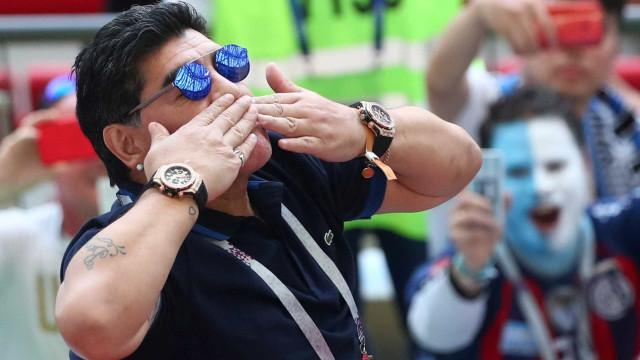 Maradona dá favoritismo ao Brasil na Copa da Rússia